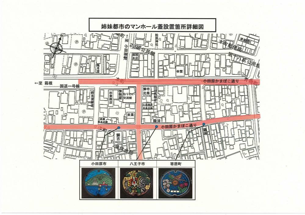 小田原かまぼこ通り案内図