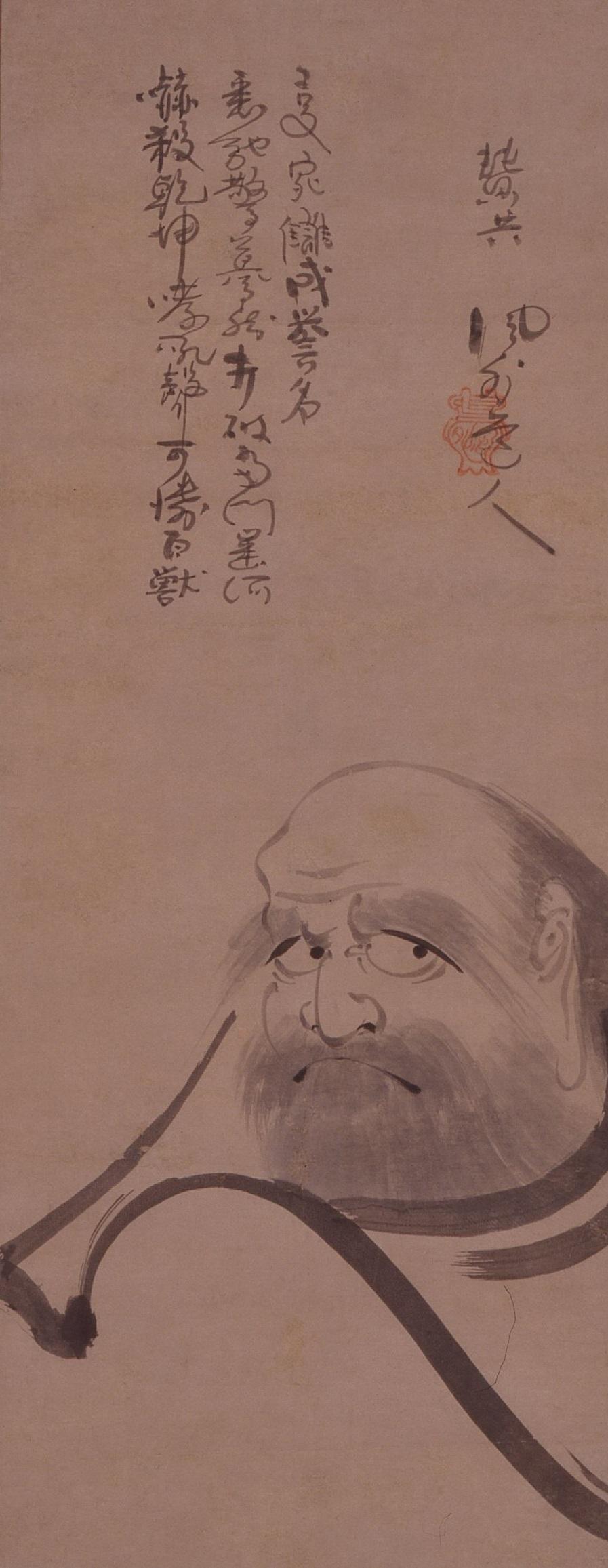風外作品「達磨図」(平塚市博物館蔵)