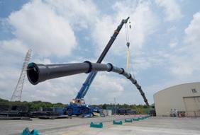 耐震継手の柔軟性検証(クボタ提供写真)