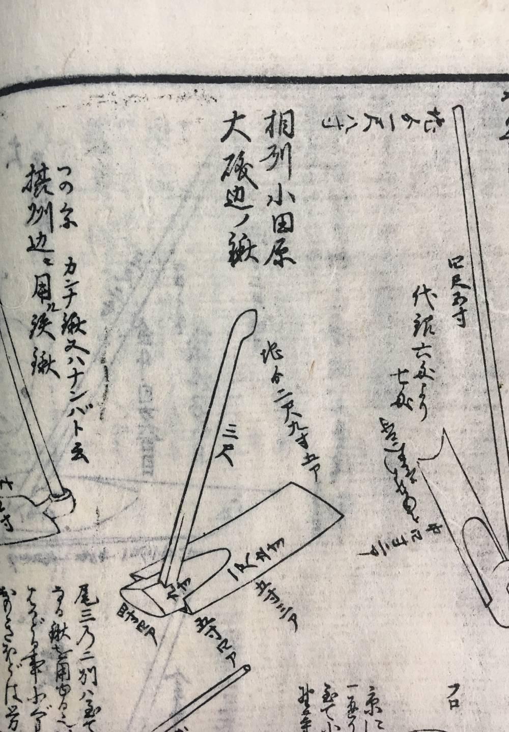 相州小田原・大磯辺ノ鍬、『農具弁理論』(個人蔵)
