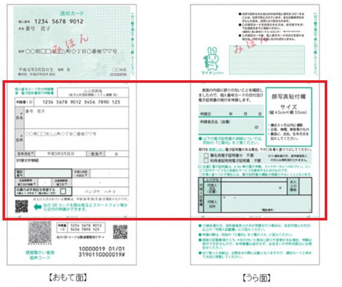 マイナンバーカードの申請書について