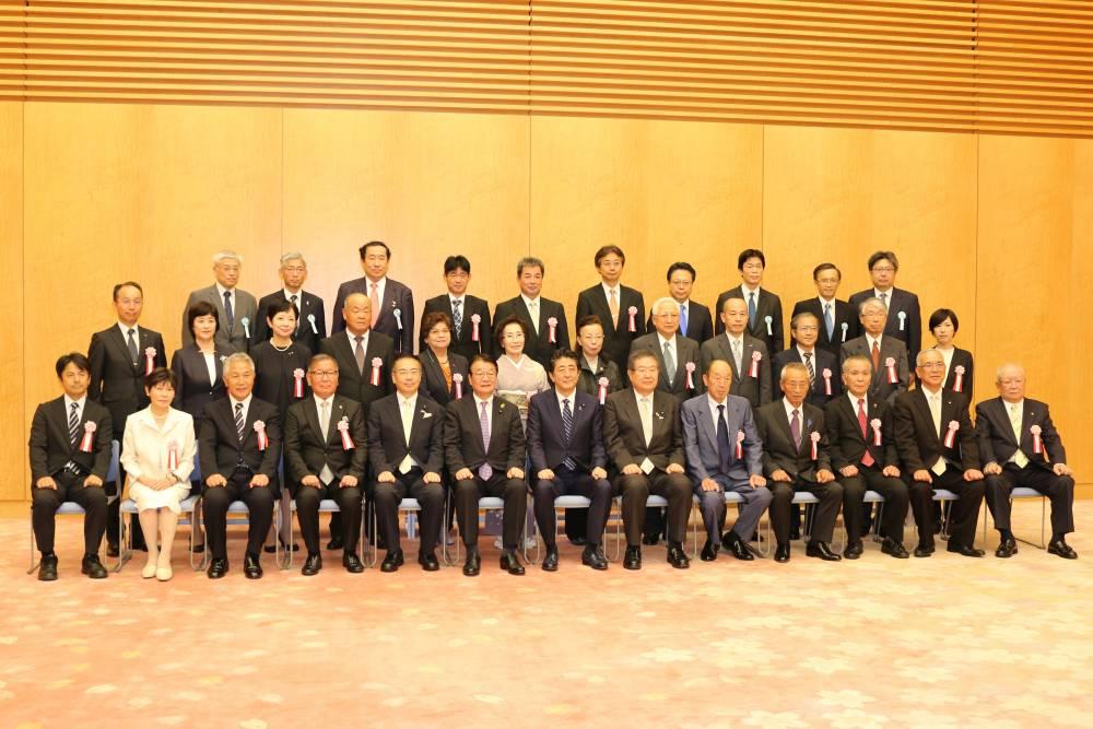 内閣総理大臣表彰式の様子