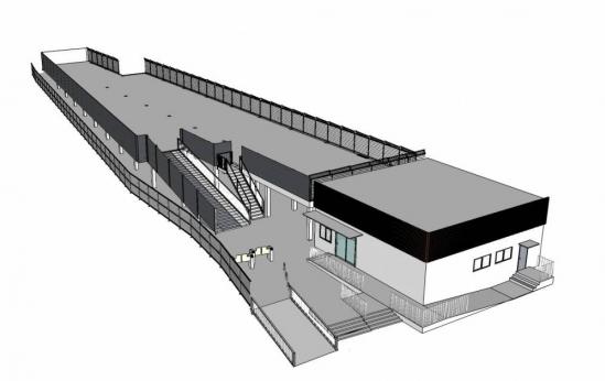 (仮称)国府津駅自転車駐車場東側(出入口)上方からのイメージ図