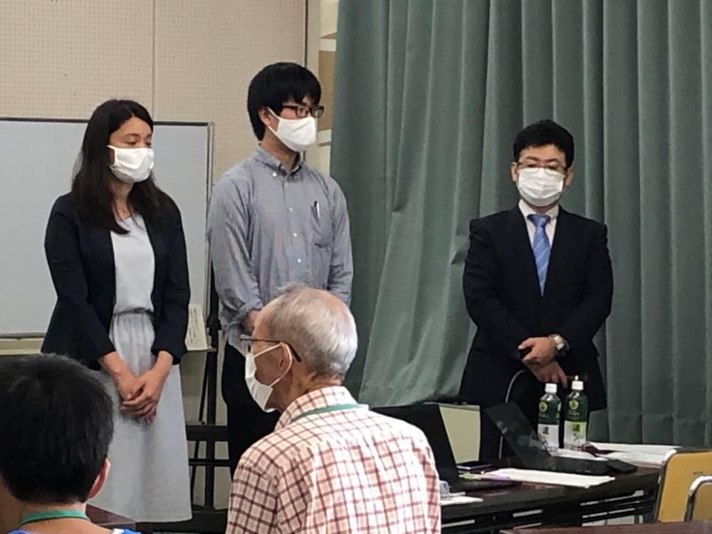 講師の先生方 左から松島夕佳子氏、中川考介氏、小菅敏裕氏