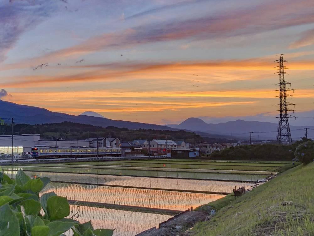19.田園風景と夕焼け