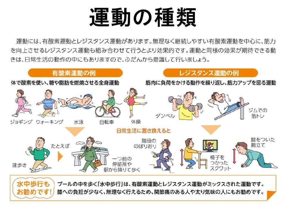 運動の種類