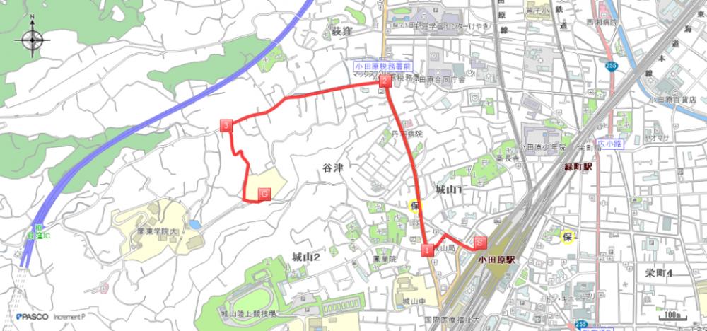 経路案内(バス及び徒歩)