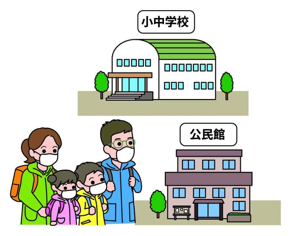 立退き避難(小中学校)