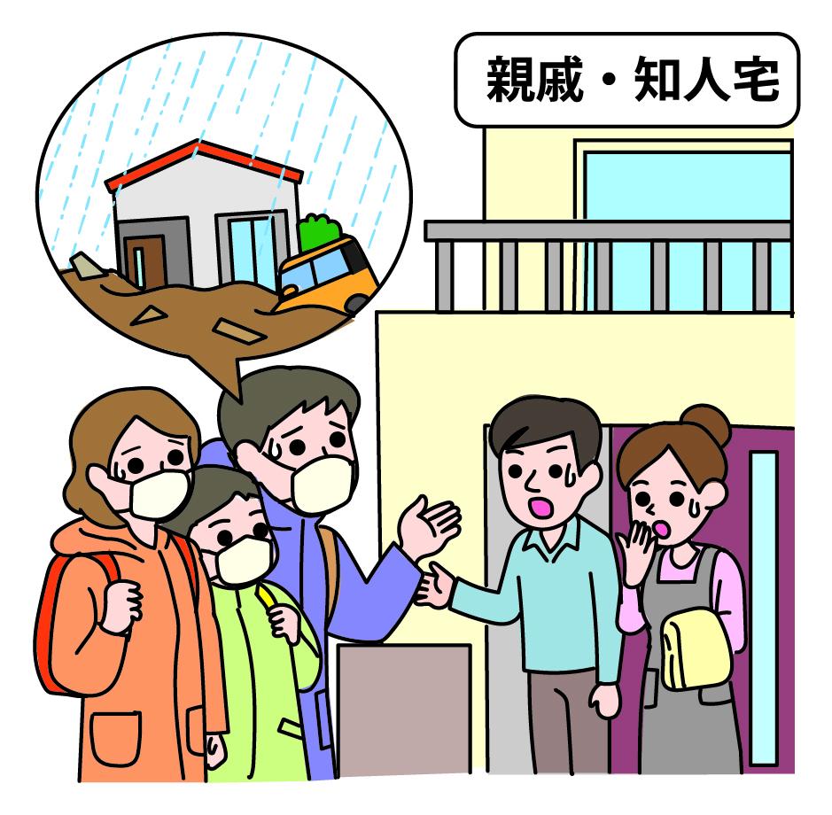 立退き避難(親戚知人宅)