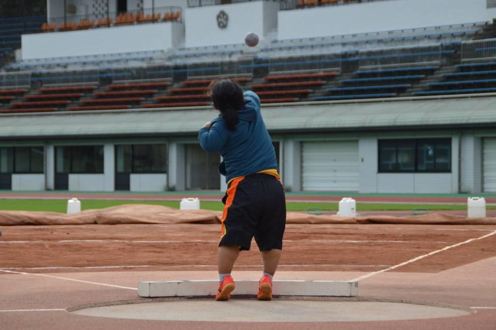投てき練習中(チミ・デマ選手)