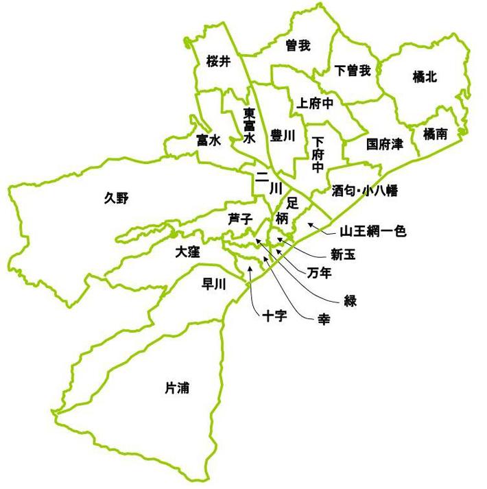 自治会連合会区割図