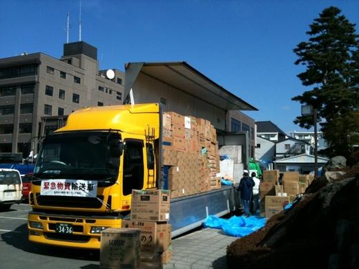 被災地へ支援物資を搬送