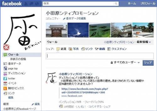 Facebook~小田原シティプロモーションイメージ図