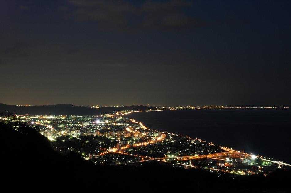 石垣山一夜城からの夜景