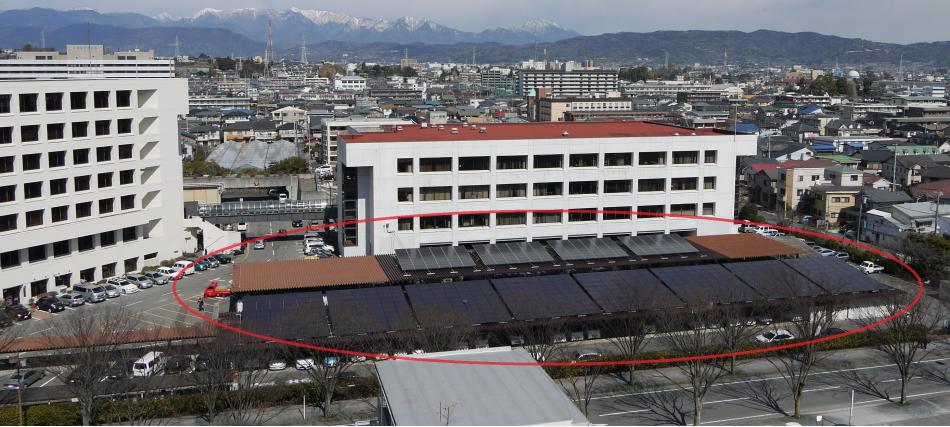 車庫棟太陽光発電